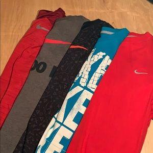 4 Nike Shirts + 1 Nike Pullover